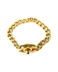 Chanel - Metallic 96p Chain Bracelet Gold Plated Coco-mark - Lyst