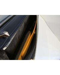 Fendi - Calfskin Leather Handbag Blue - Lyst