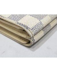 Louis Vuitton - White Portefeuille Elise Trifold Wallet Purse Damier Azur N61733 - Lyst