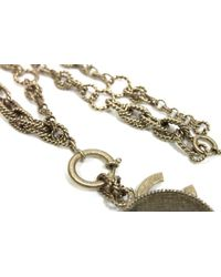 Chanel - Metallic Authentic 13p No.5 Long Necklace Gold Metal - Lyst