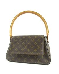 98d7aded96049 Louis Vuitton. Women's Brown Monogram Canvas Shoulder Bag M51147 Mini  Looping
