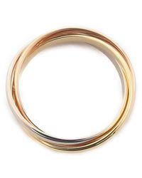 Cartier - Metallic Trinity Ring K18 750 Yg/wg/pg #53 Us6.5 Hk14 Eu53 - Lyst