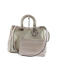 63194cd27ad6 Lyst - Dior Cannage Lady 2way Hand Bag Issimo in Natural