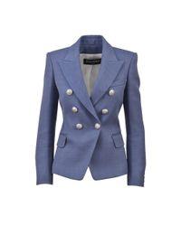 Balmain - Blue Jackets Azzurro - Lyst