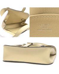 Hermès White Alsan Mini 2 Wayshoulder Bag Swift Trench A Stamp
