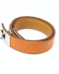 Hermès - K Stamp Bock Scarf Kelly Du Bock Scarf Brown [pd1] - Lyst