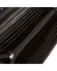 Chanel - Black Quilted Patent Leather Wallet - Lyst