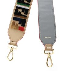 "Fendi - Multicolor Accessories Ss18 ""strap You"" Leather Shoulder Strap - Lyst"