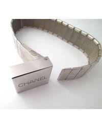 Chanel - Metallic Bracelat Silver Bracelat Mens Womens Bangle for Men - Lyst