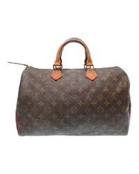 052192705111 Lyst - Louis Vuitton M41524 Speedy 35hand Bag Brown Monogramcanvas ...
