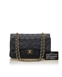 Chanel - Black Classic Medium Double Flap Bag - Lyst