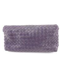 Bottega Veneta - Purple Pouch Intrecciato Unisexused T529 - Lyst