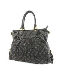 d50222624064 Lyst - Louis Vuitton Monogram Denim Shoulder Bag M95352 Neo Cabie Gm ...