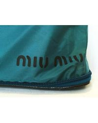 Miu Miu - Lizard Embossed Bag Tote Bag Shoulder Bag Shopping Bag Miumiu Nylon Blue - Lyst