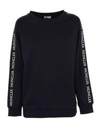 Moncler - Blue Cotton Sweatshirt - Lyst