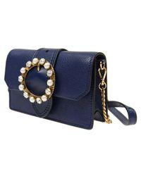 Miu Miu - Authentic New Handbag 5bl001 2eja F0021 Calfskin Blue - Lyst