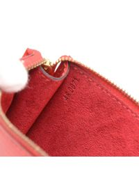 Louis Vuitton - Pochette Accessories Red Epi Leather Hand Bag - Lyst