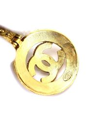 Chanel - Metallic Cc Logos Long Necklace Gold-plated Vintage 90036805.. - Lyst