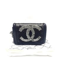 Chanel - Calfskin Leather Handbag Black - Lyst