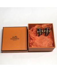 Hermès - Metallic Earrings Metal And Enamel ; - Lyst