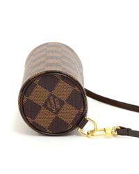 Louis Vuitton - Brown Pochette Papillon Ebene Damier Canvas Pouch - Lyst
