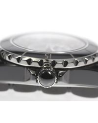 Chanel - J H1625 33 Mm Black Ceramic 12p Diamond Quartz Ladies Pre-owned for Men - Lyst