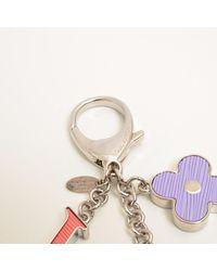 Louis Vuitton - Metallic Metal Material Bijou Sac Fleur De Epi Key Ring M67126 - Lyst