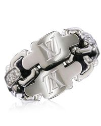 Louis Vuitton - Metallic Berg Chain Attraction Ring 18k K18 Wg 750 Size49 90019401.. - Lyst