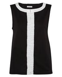 Moncler - Black Cotton Top - Lyst