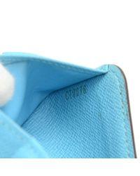 Louis Vuitton - Compact Zip Groom Blue Monogram Canvas Wallet - Lyst