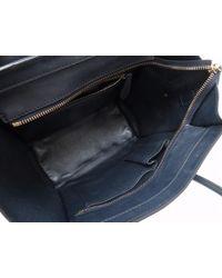 Céline - Blue Micro Shopperhand Bag Navy Leather 0093 - Lyst