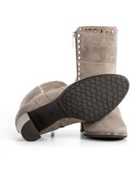 7f7fcac797b7 Lyst - Jimmy Choo Shop Online Grey Suede Heeled Ankle Boots in Gray