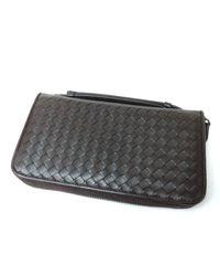 d28abd72897b Lyst - Bottega Veneta Leather Purse (with Coin Purse) 169730 V4651 ...