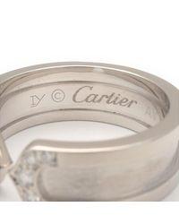 Cartier - Metallic 2c Diamond Ring Sm K18 White Gold #52 Us6 Hk13.5 Eu52.5 - Lyst