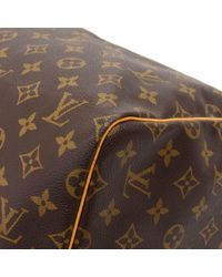 Louis Vuitton - Brown Vintage Keepall 55 Monogram Canvas Duffle Travel Bag - Lyst