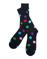 Paul Smith - Blue Polka Dots Printed Socks for Men - Lyst