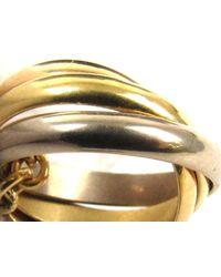 Cartier - Metallic Trinity Necklace K18yg (750) Yellow Gold X K18wg (750) White Gold - Lyst