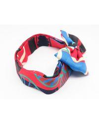 Hermès - Silk Bow Tie Red / Blue / Black 5648 for Men - Lyst