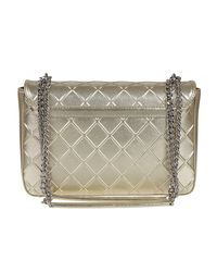 Moschino - Gray Platinum Synthetic Leather Bag - Lyst