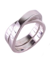 Cartier - Metallic 18k White Gold Silver Ring #23(jp Size) Mens - Lyst