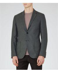 Reiss | Gray Abraham Patch Pocket Blazer for Men | Lyst