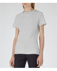 Reiss - Black Striped Toulouse Jersey T-shirt - Lyst