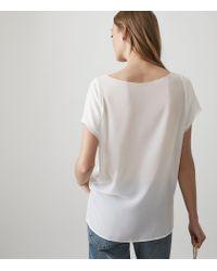 Reiss - White Sybill - V-neck Top - Lyst
