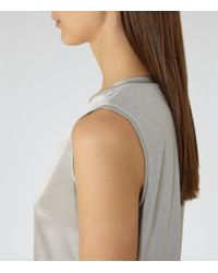Reiss - Metallic Fi-silk Front Vest - Lyst