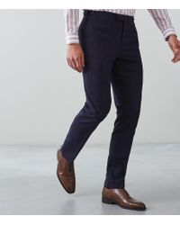 Reiss Blue Fountain - Slim Fit Trousers for men