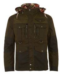 Barbour | Green X White Mountaineering Jacket Kitefin Slim Wax Archive Olive Jacket for Men | Lyst