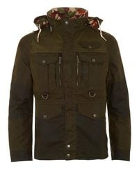 Barbour - Green X White Mountaineering Jacket Kitefin Slim Wax Archive Olive Jacket for Men - Lyst