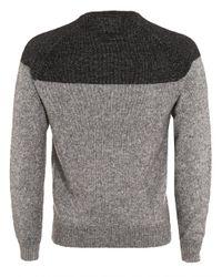 Armani Jeans - Gray Jumper, Black Colour Block Grey Knitwear for Men - Lyst
