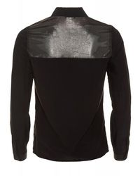 Armani Jeans - Black Satin Shirt Metallic Blouse for Men - Lyst