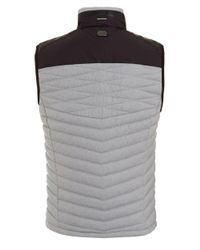 BOSS - Gray Vaboko Gilet, Grey Two Tone Quilted Jacket for Men - Lyst